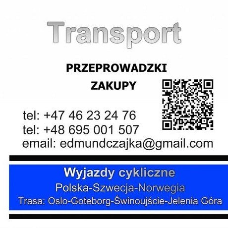 Transport- Polska-Norwegia- Szwecia