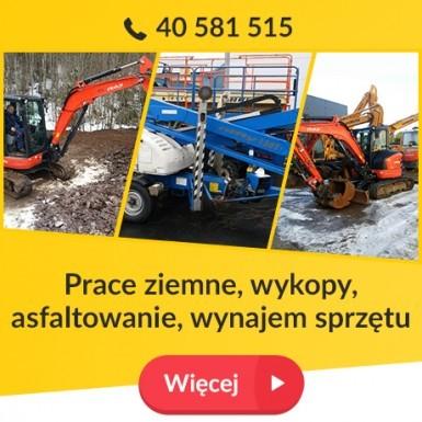 Prace ziemne, wykopy, asfaltowanie