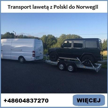 Transport lawetą z Polski do Norwegii